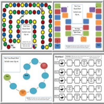 board game templates create customized board game