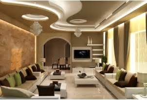 gypsum ceiling design with cornice and concealed lights