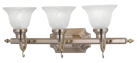 livex lighting antique brass french regency  light