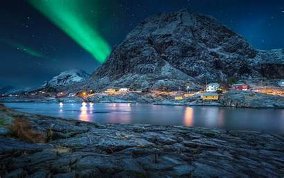 Pc Night Sky Norway Desktop Landscape Polar