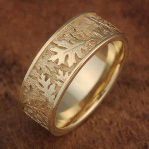 oak leaf wedding band With oak leaf wedding ring
