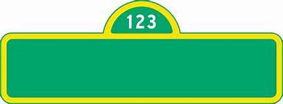 Sesame Street Blank Clip Template Banner Birthday