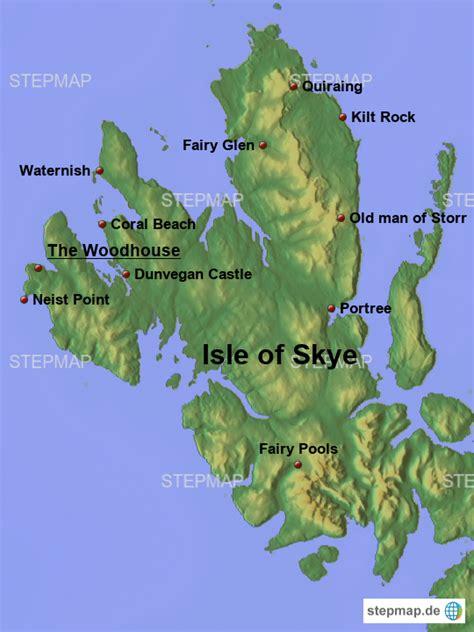 stepmap isle  skye  landkarte fuer grossbritannien