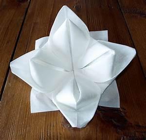 Pliage De Serviette En Tissu : pliage de serviette de table en forme de lotus r aliser ~ Nature-et-papiers.com Idées de Décoration