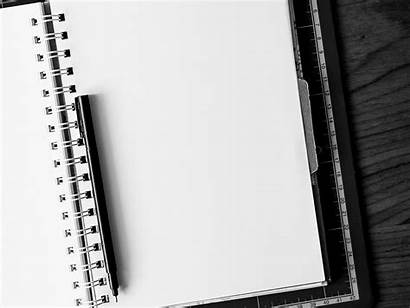 Blank Desk Pen Notebook Paper Note Quote