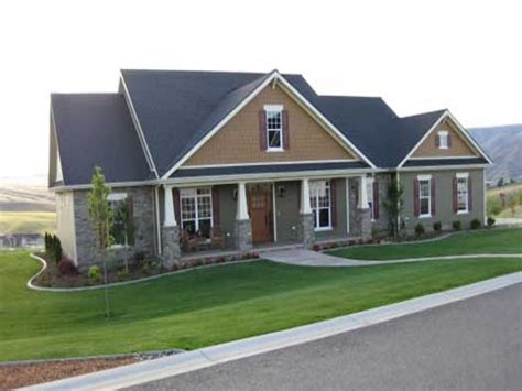 New One Story House Plans by Single Story Craftsman House Plans Single Story Craftsman