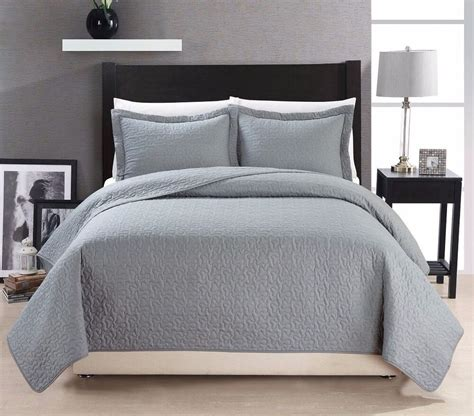 Grey King Coverlet by Chezmoi Collection Cotton Quilted Bedspread Coverlet 3