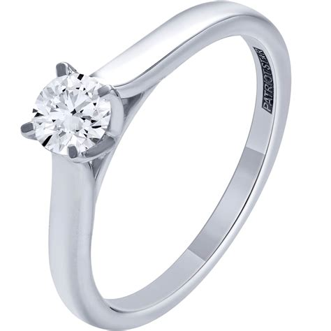 patriot 14k white gold 1 2 ct engagement ring engagement rings jewelry