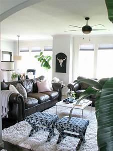 Decorating, Around, Dark, Leather, Sofas