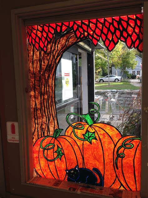 Fenster Bemalen Herbst by Autumn Window Painting 1 By Magical On Deviantart