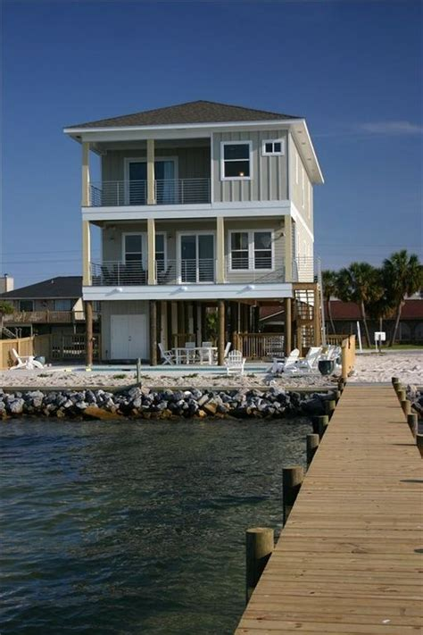 waterfront home  private pool  dock pensacola beach