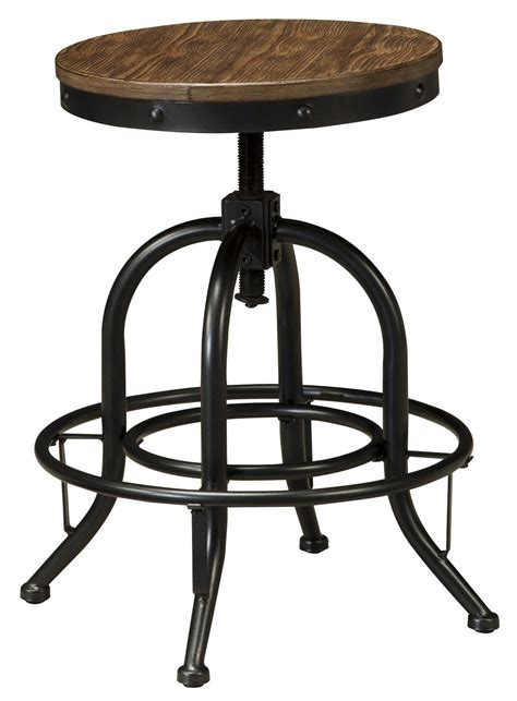 kitchen island light height signature design by pinnadel 5 counter table