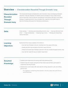 Oedipus Rex Character Analysis Lesson Plan