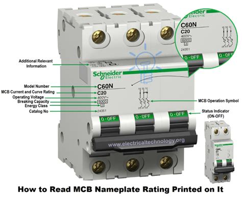 how to read mcb nameplate data rating printed it