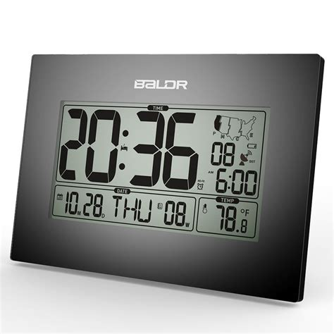digital atomic desk clock lcd digital atomic time zone desk alarm clocks calendar