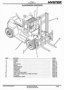 Hyster Truck E007 Series  H165xl  H250xl  H8 00xl  H9
