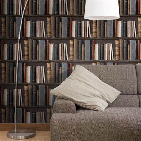 papier peint vinyl cuisine papier peint intissé bibliotek multicouleur leroy merlin