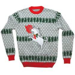ugly christmas sweater unicorn rudolph stupid com
