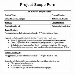8 sample project scope templates to download sample With it project scope of work template