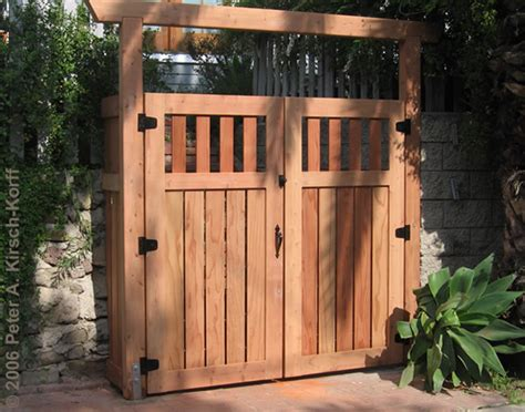hollywood hills asian modern fusion wood entry gate