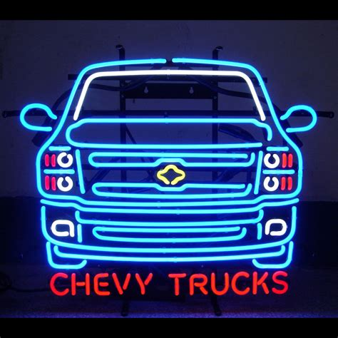 Chevrolet Neon Sign by Chevy Neon Signs Cave Plus Your Cave Rec