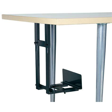 under desk laptop holder under desk computer tower holder black from conrad com