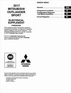 2017 Mitsubishi Outlander Sport Wiring Diagram Manual Original