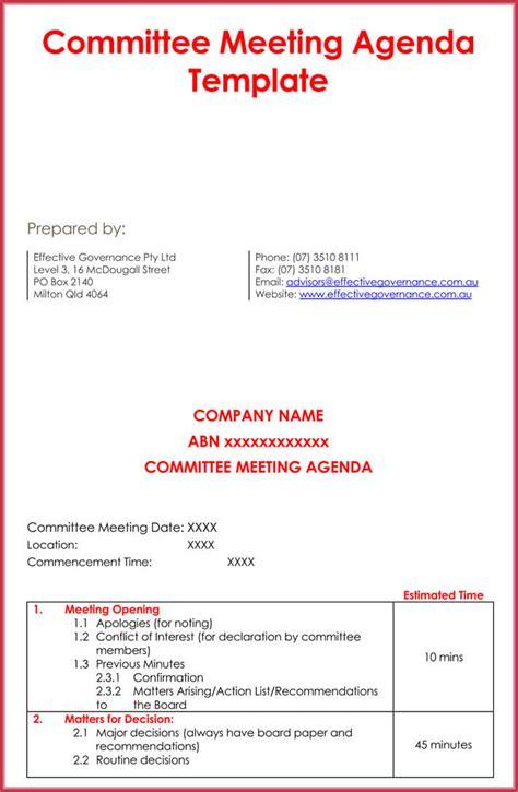 weekly meeting agenda template  samples formats