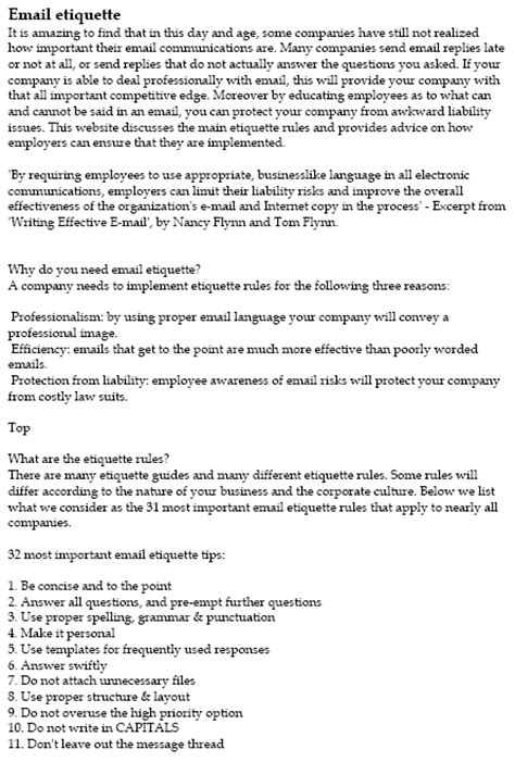 Emailing Resumes Etiquette by Email Etiquette Pdf