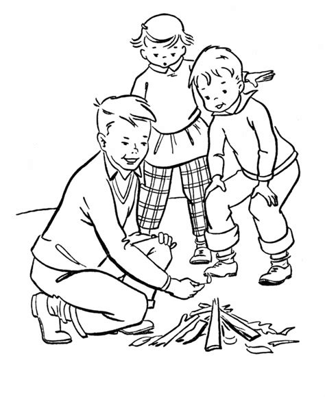 preschool camping coloring pages az coloring pages 895 | Bcap84nc8