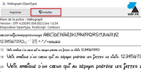 windows 10 installer une nouvelle de caractères