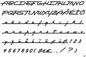 Fontscape Home Appearance Cursive geometric