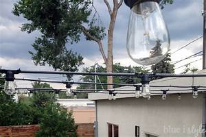 Outdoor style how to hang commercial grade string lights