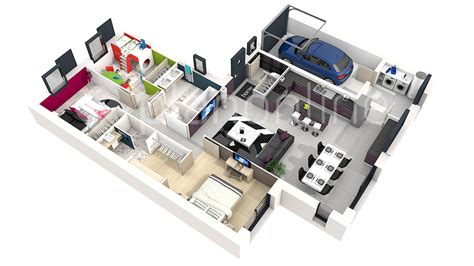 plan de chambre 3d attrayant plan chambre salle de bain dressing 7 3d