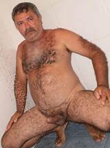 Horny bear and hairy guys