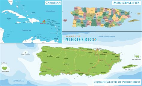 puerto rico map vacation destinations travel guide