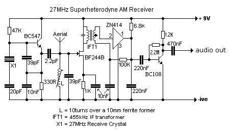 Mhz Superhet Receiver Electronic Simple