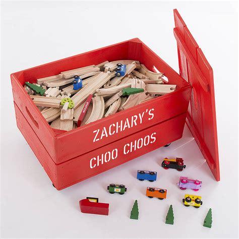 personalised wooden storage toy box  plantabox