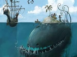 Fantasy, Original, Art, Artistic, Artwork, Sea, Ocean, Creature, Monster, Wallpapers, Hd, Desktop