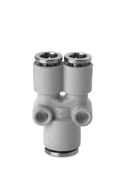 7560 Tube Y Connector Plastic Push In Fitting - Camozzi