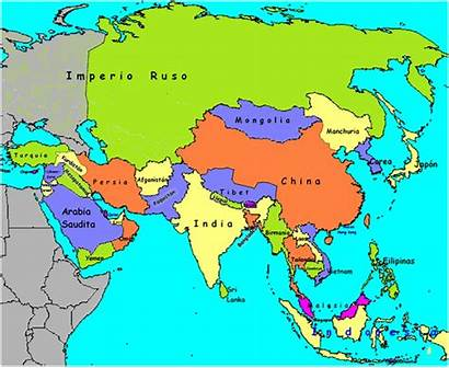 Mapa Asia Continente Ver Pacifico Mundi Asi