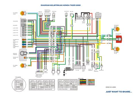 Wiring Diagram Daihatsu Grand Max by Diagram Kelistrikan Honda Tiger Happynetku S