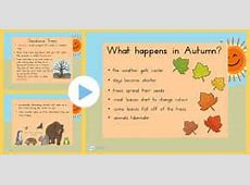 Autumn PowerPoint seasons, weather, teaching aid, autumn