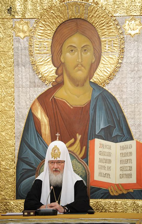his holiness patriarch kirill presides at an enlarged session of the patriarchal council for