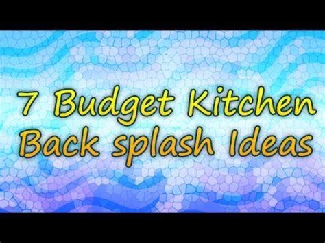 kitchen backsplash cheap 7 budget kitchen back splash ideas
