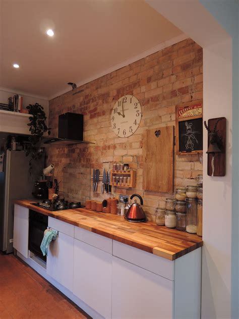 Brick Kitchen Cupboards by Large Kent Clock On Exposed Brick Wall Classic