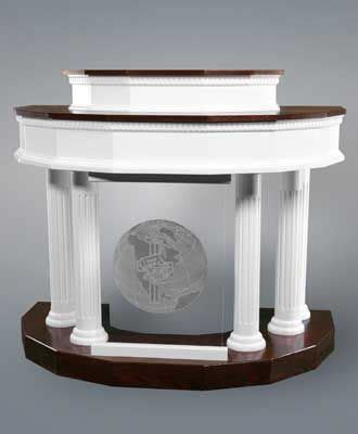 custom pulpit  imperial woodworks  church