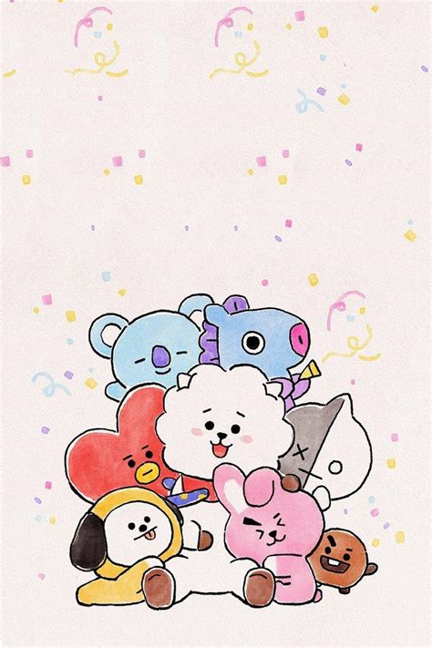 bt21 aesthetic hd wallpapers