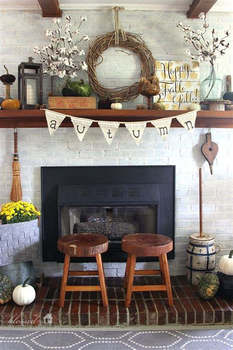 decorating ideas for fireplace mantel 30 amazing fall decorating ideas for your fireplace mantel