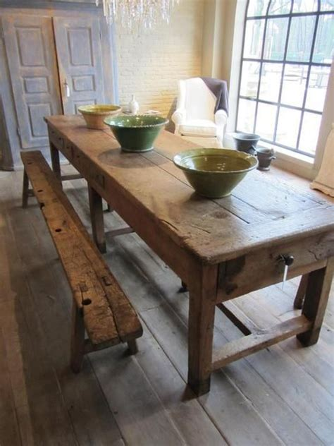 wood farmhouse table  bench  mom  dad chairs